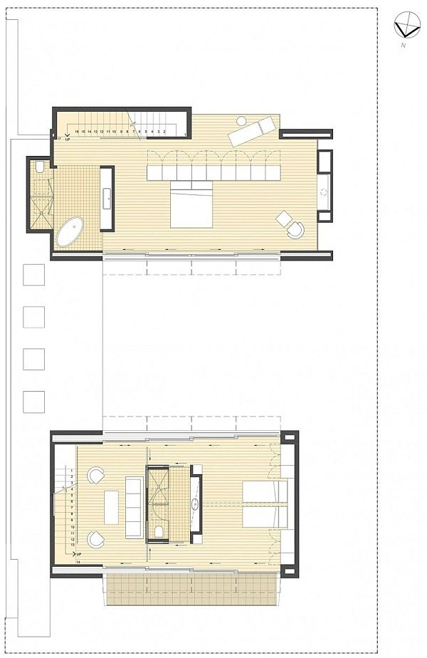 9 Open Living Space Floor Plan City House Floor Plans Architecture