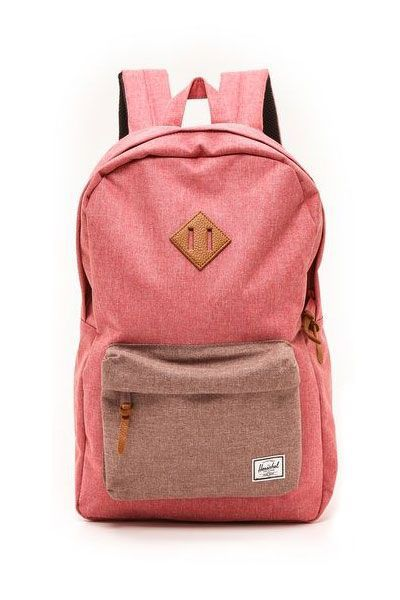 Heritage Backpack from Herschel Supply Company in Red and Rust Crosshatch  Mochilas Rosadas 5682ff59999f9