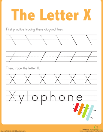 Practice Tracing the Letter X LETTER X Preschool