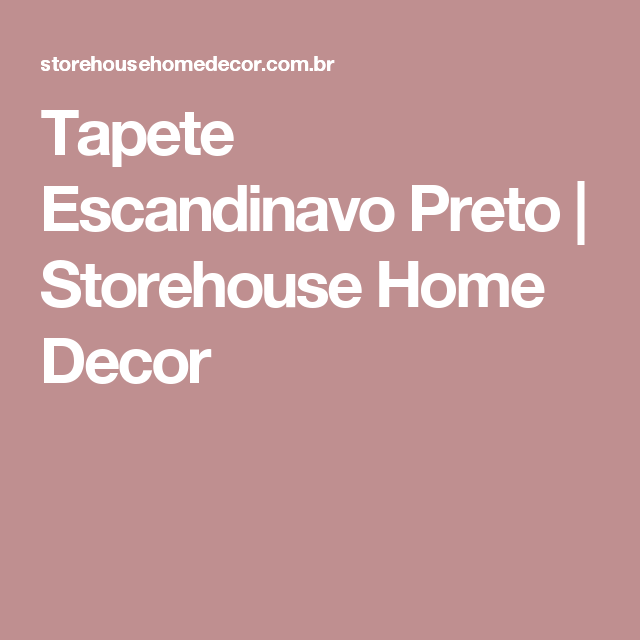 Tapete Escandinavo Preto | Storehouse Home Decor