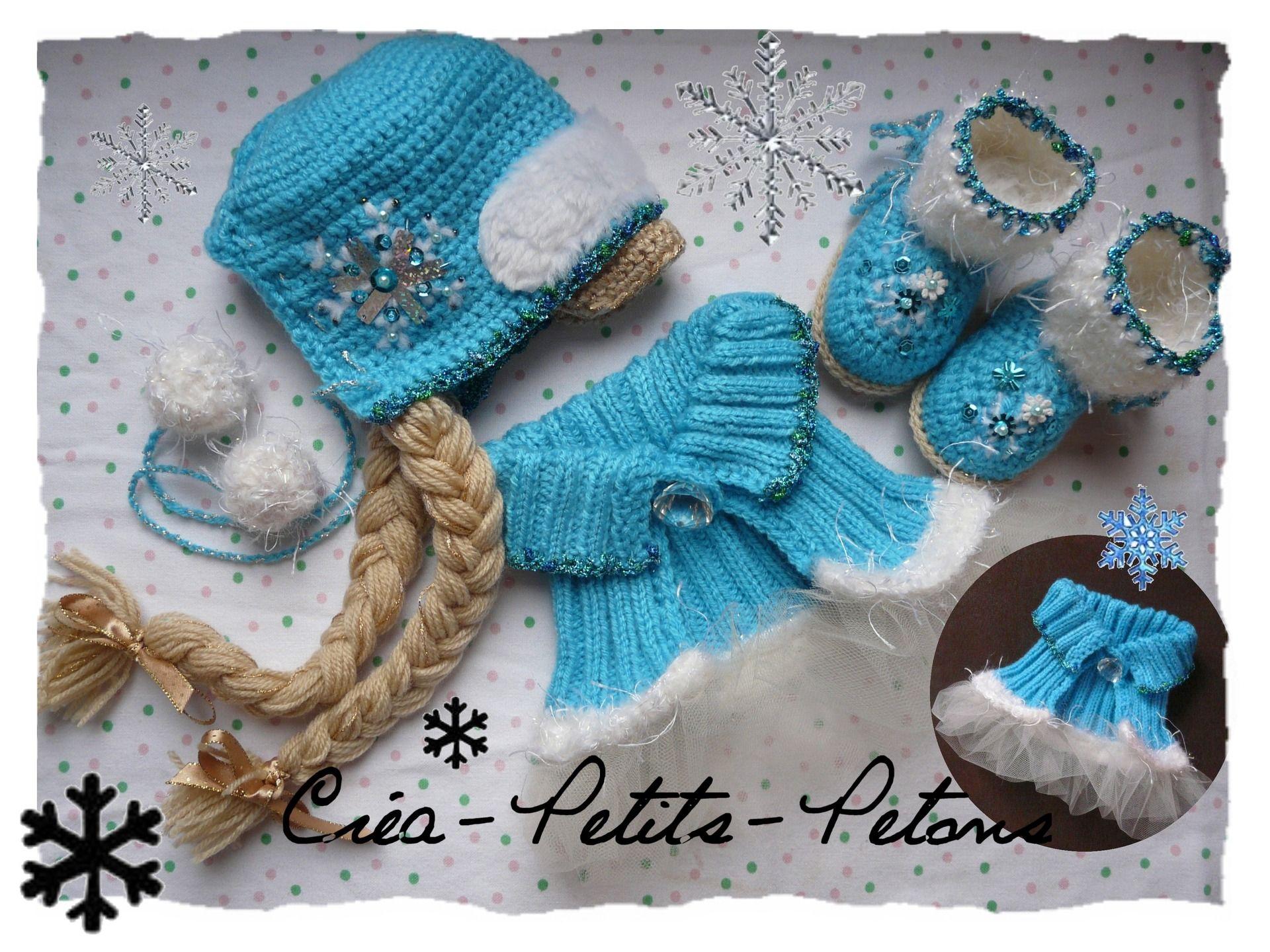 tricoter un bonnet reine des neiges