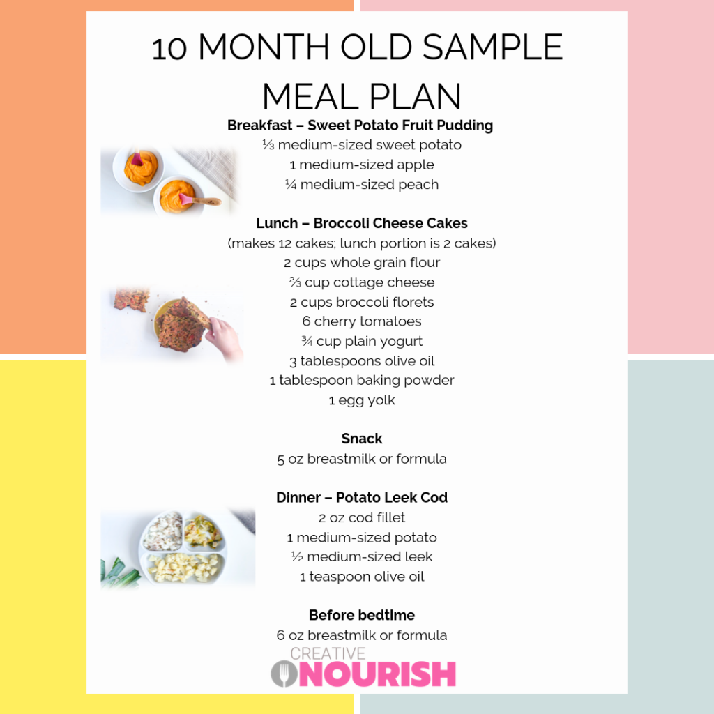 10 Month Old Meal Plan - Nutritionist Approved   Meal ...