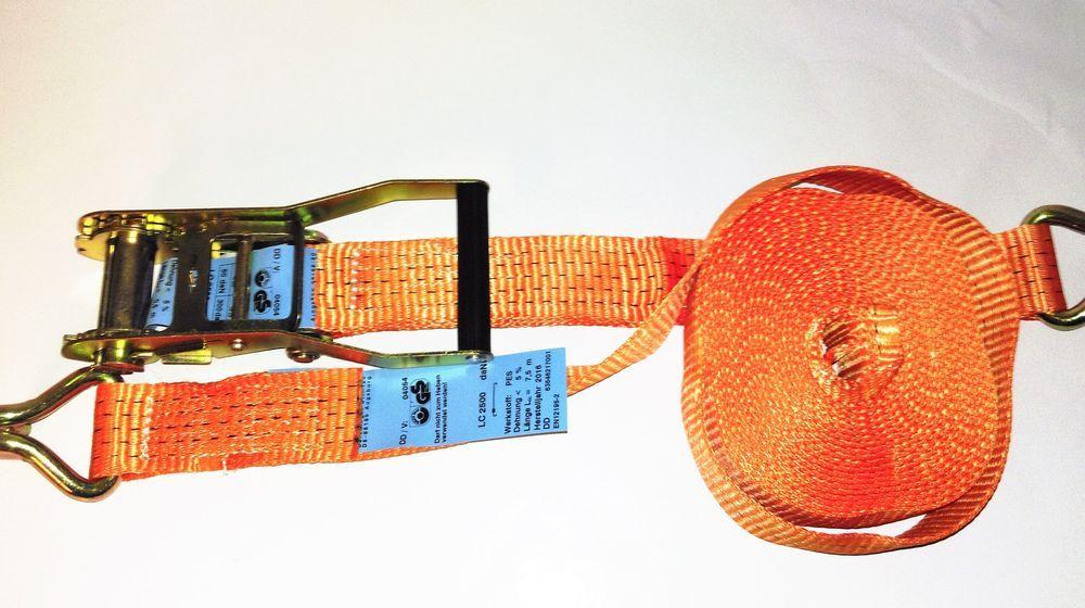 2tlg LC 2500//5000 daN Spanngurt Langhebelratsche 5t 8m 2Tlg