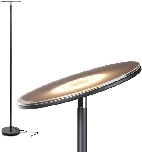 Enjoy exclusive for Brightech Sky Flux - The Very Bright LED Torchiere Floor Lamp,  Your Living Room & Office - Halogen Lamp Alternative  3 Light Options Incl. Daylight - Dimmable Modern Uplight - Black online - Lookpoppretty#alternative #black #bright #brightech #daylight #dimmable #enjoy #exclusive #floor #flux #halogen #incl #lamp #led #light #living #lookpoppretty #modern #office #online #options #room #sky #torchiere #uplight