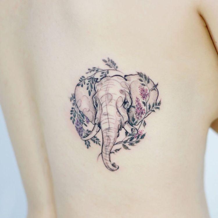 2e13aab12 75 Big And Small Elephant Tattoo Ideas | t a t t o o s | Elephant ...