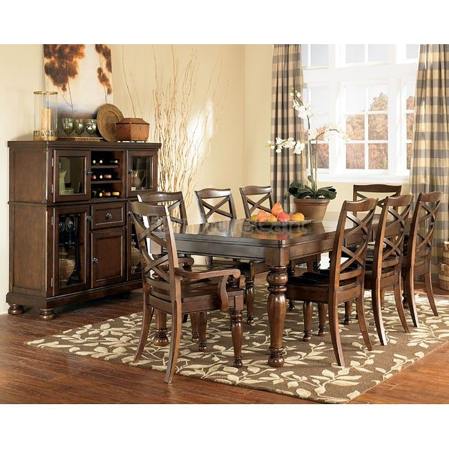 Porter 9 Piece Dining Set   Our New Dining Room Table From The Ashley  Furniture