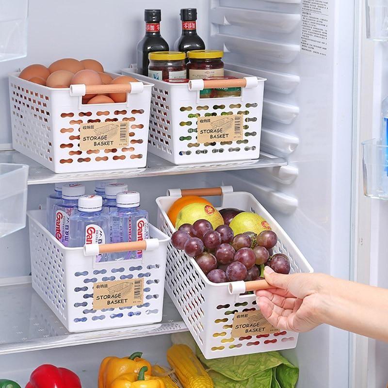 Kitchen Storage Basket Plastic Multi-functional Vegetables Fruit Racks Basket