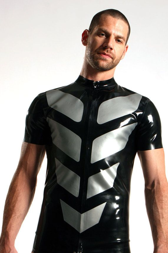 tron fitted latex mens t shirt men 39 s wear pinterest latex men 39 s fashion and man style. Black Bedroom Furniture Sets. Home Design Ideas