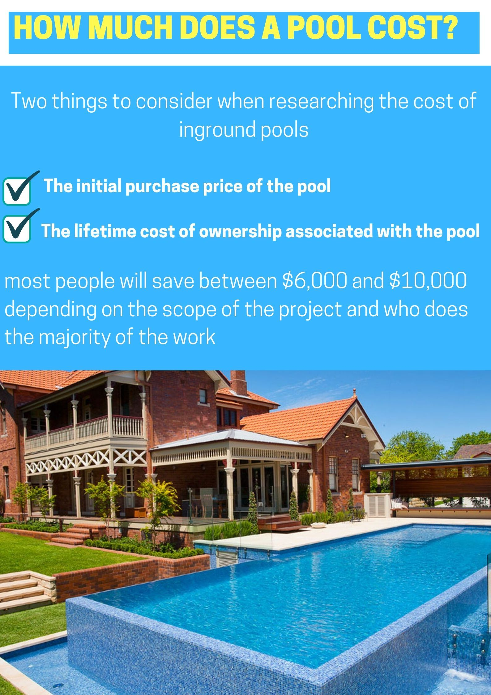 How Much Does A Pool Cost Pool Cost Swimming Pool Builder Pool