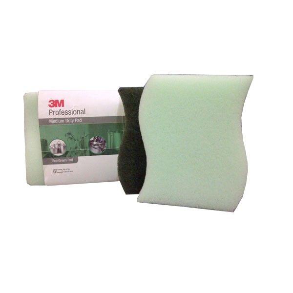 3M Scotch Brite Eco-Green Pad 3 x 4 inc (6 pad) - Sabut Sponge u/ Membersihkan Alat Dapur pd Noda membandel.  - Hand Pads & Sponge Range - Membersihkan Noda yang Membandel - Tahan lama (Kuat).  http://alatcleaning123.com/sponge-microfiber/1558-3m-scotch-brite-eco-green-pad-3-x-4-inc-sabut-sponge-u-membersihkan-alat-dapur-pd-noda-membandel-jual-harga-murah.html  #sabutcucipiring #sponge #3M