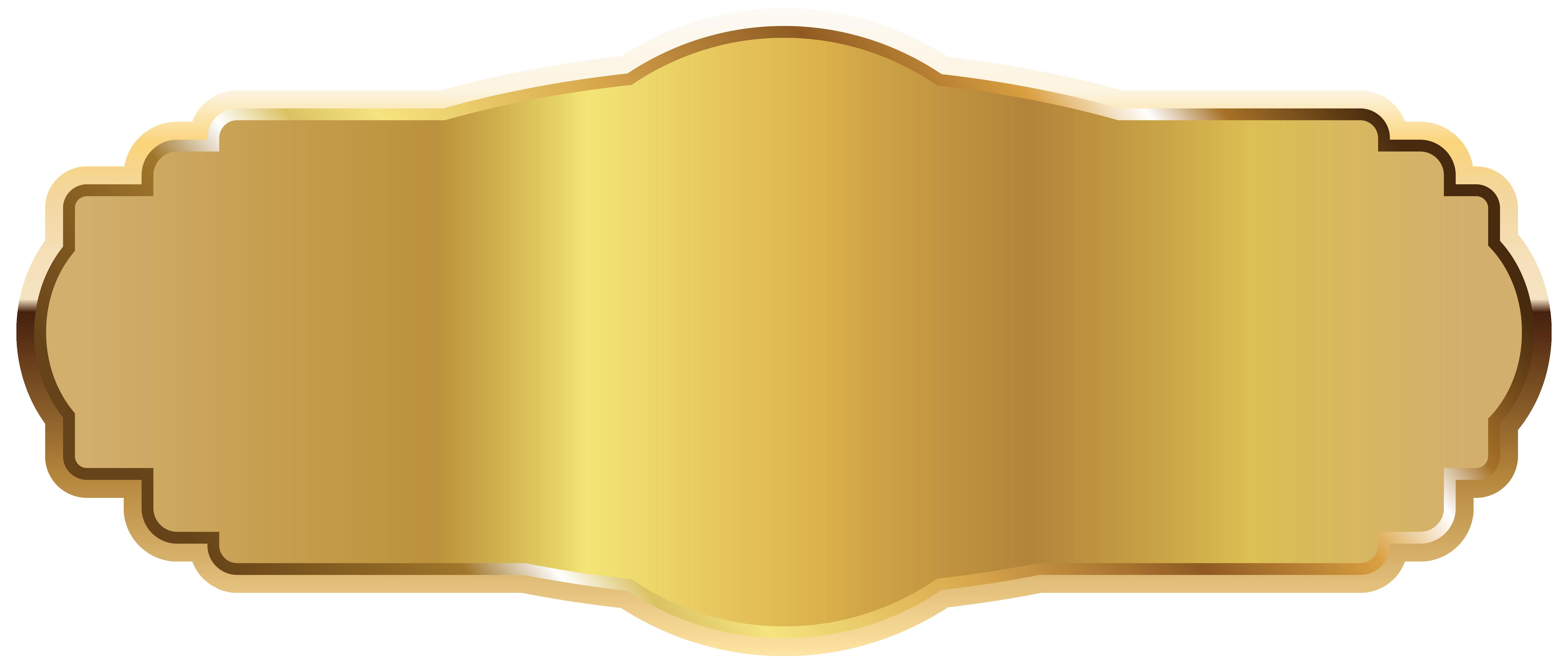 Gold Label PNG Clipart Image Gold labels, Clip art