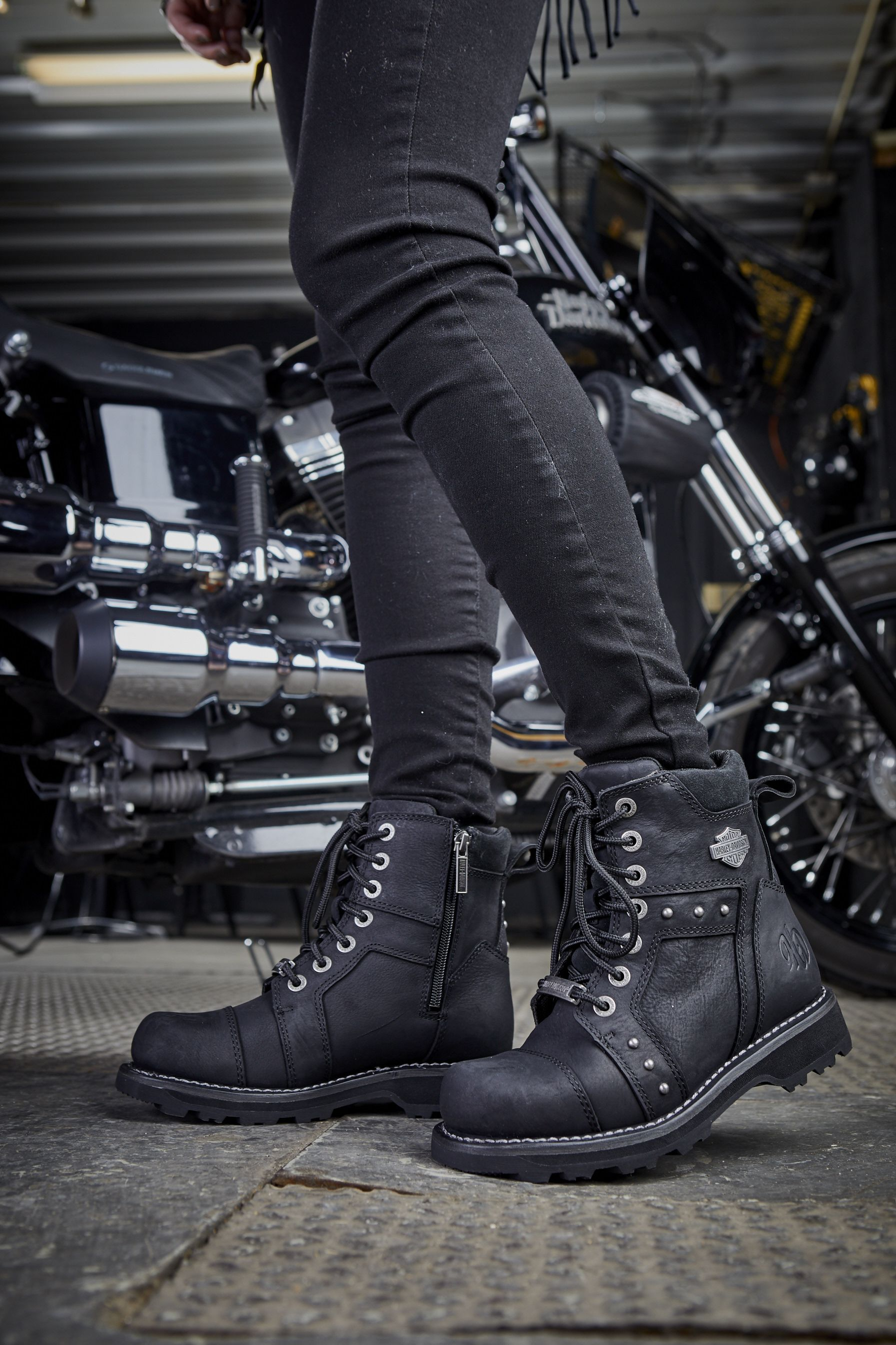 Women's Oakleigh Boot | Women's motorcycle boots, Womens motorcycle  fashion, Leather motorcycle jacket outfit