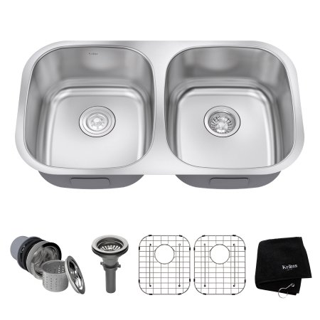 Home Improvement Double Bowl Kitchen Sink Stainless Steel Sinks
