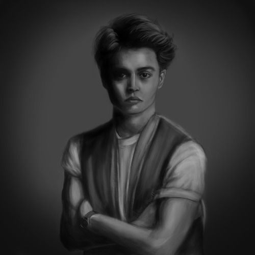 Johnny Depp in the 90's, digital painting by Jessica Guetta  http://jessicaguetta.tumblr.com/