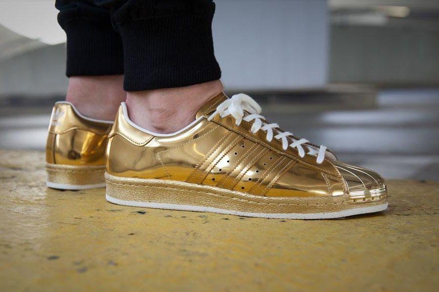 Adidas Superstar 80's Metallic Gold UK Sizes