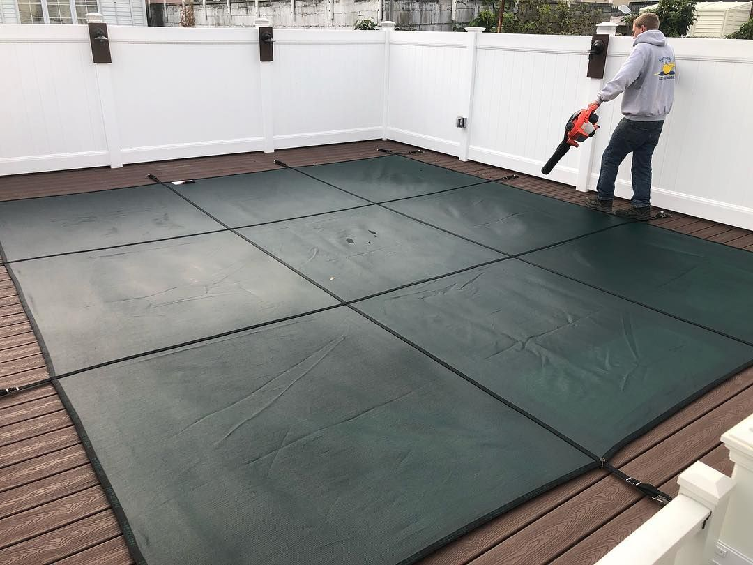 Green Smartmesh Photo From Island Liners Safety Cover Tile
