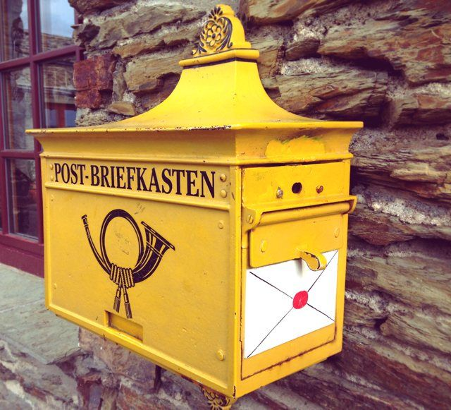 vintage mail box / post box