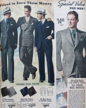 9c8e262fb 1930s Men's Suits- History in Pictures | 1930s Mens Fashion | 1940s ...