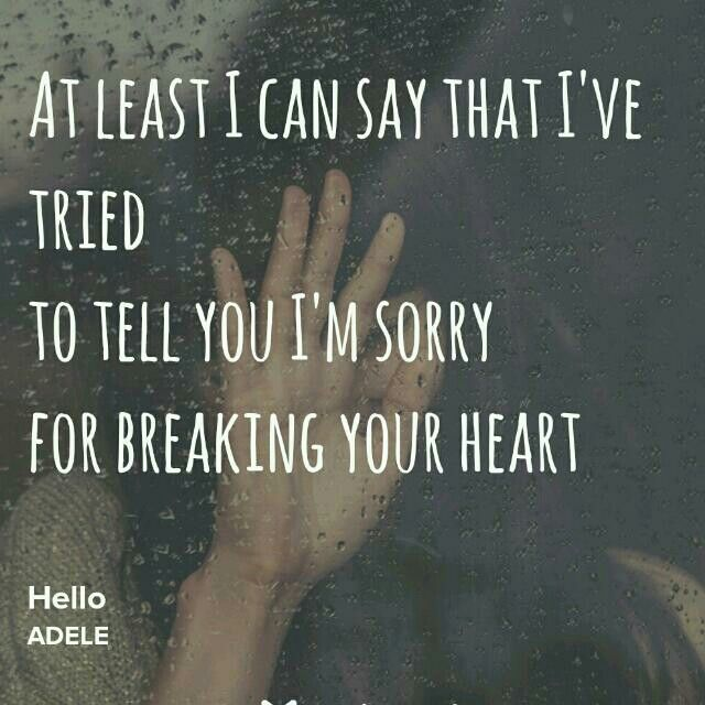 If I Ever Broke Your Heart I Am Sorry Told You So Quotes Sayings