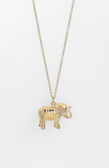 f5b650414 Anna Beck 'Animals' Long Elephant Pendant Necklace available at #Nordstrom