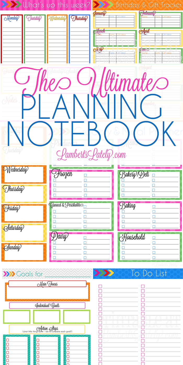 monthly planning sheet