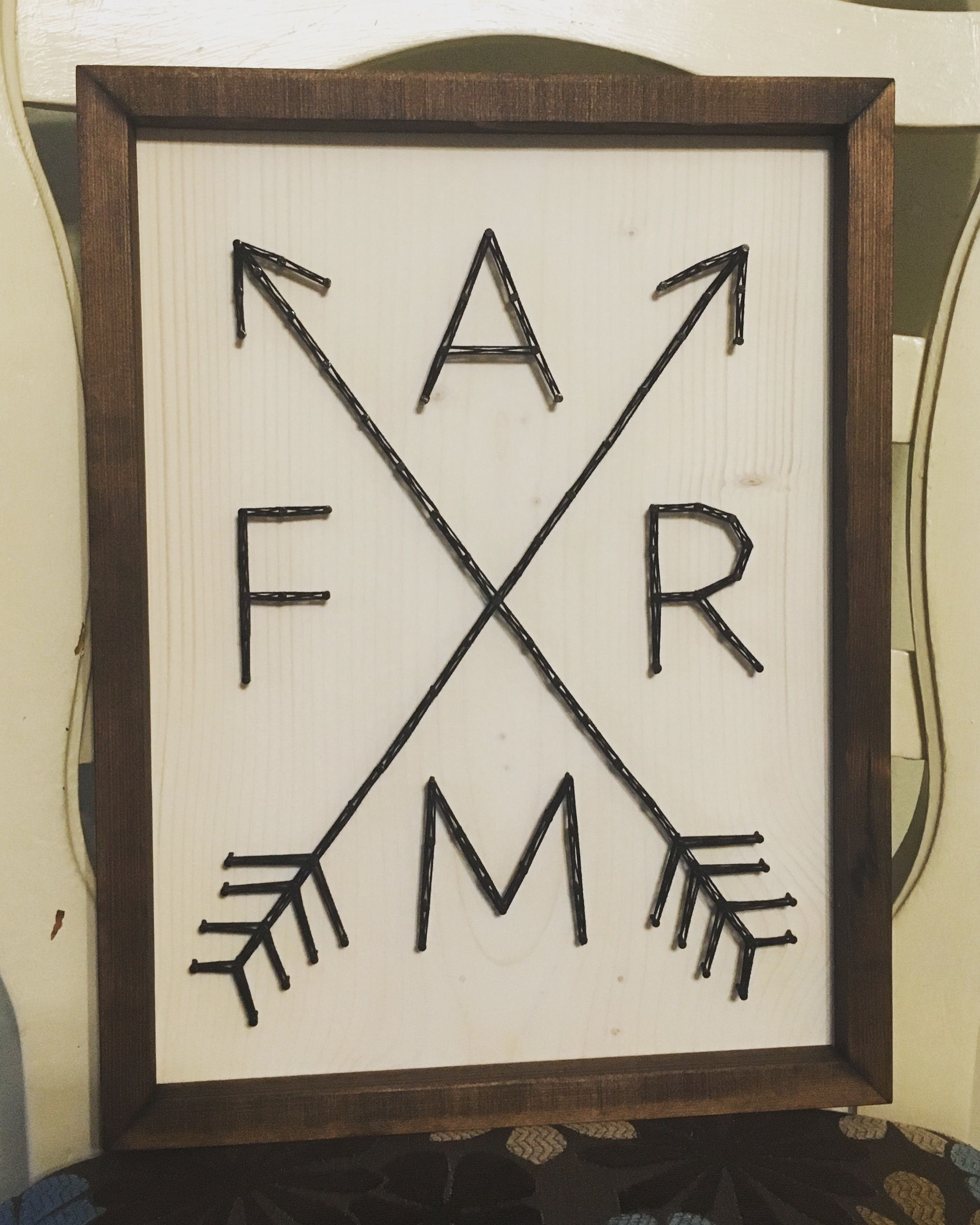 Framed Farm Decor String Art, Rustic  Order From Kiwistrings