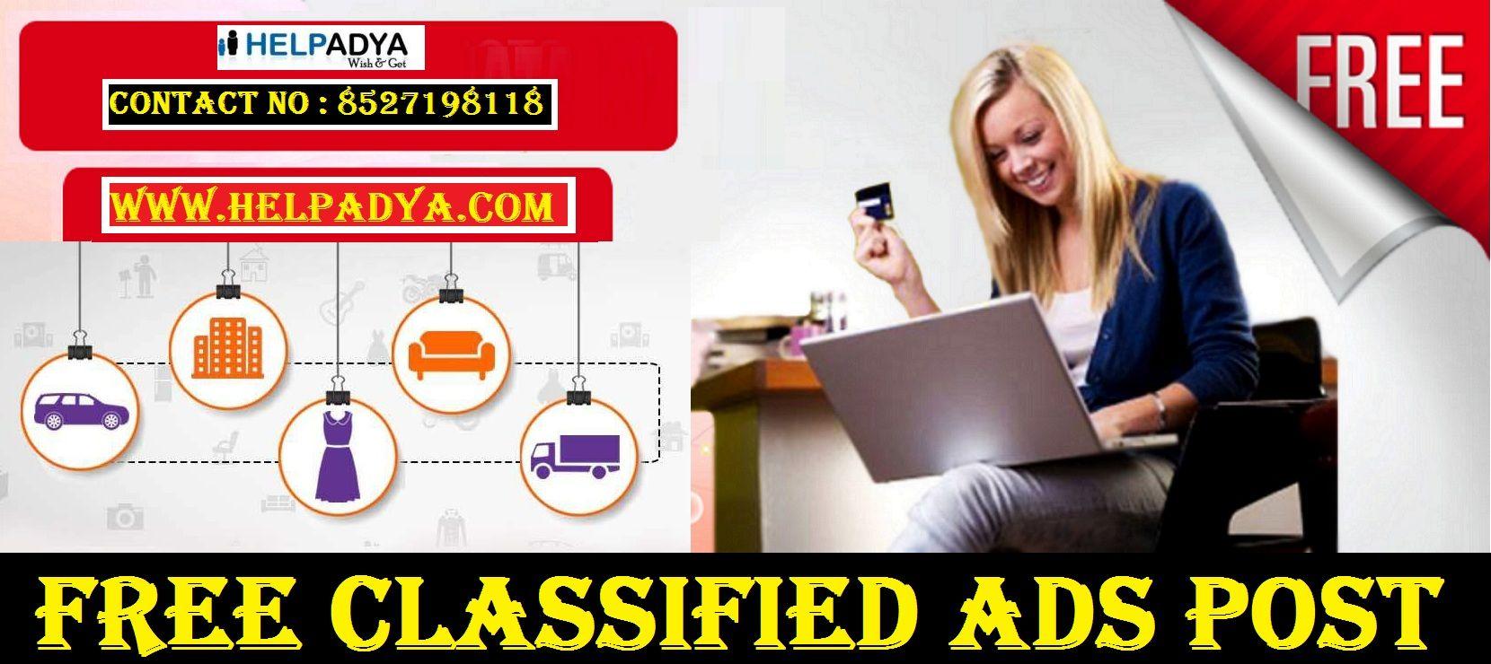 Free Classified Ads Post By Help Adya Free Classified Ads