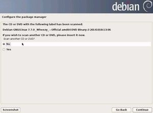 21  Configure package manager - Scan another CD or DVD? 3 | Debian