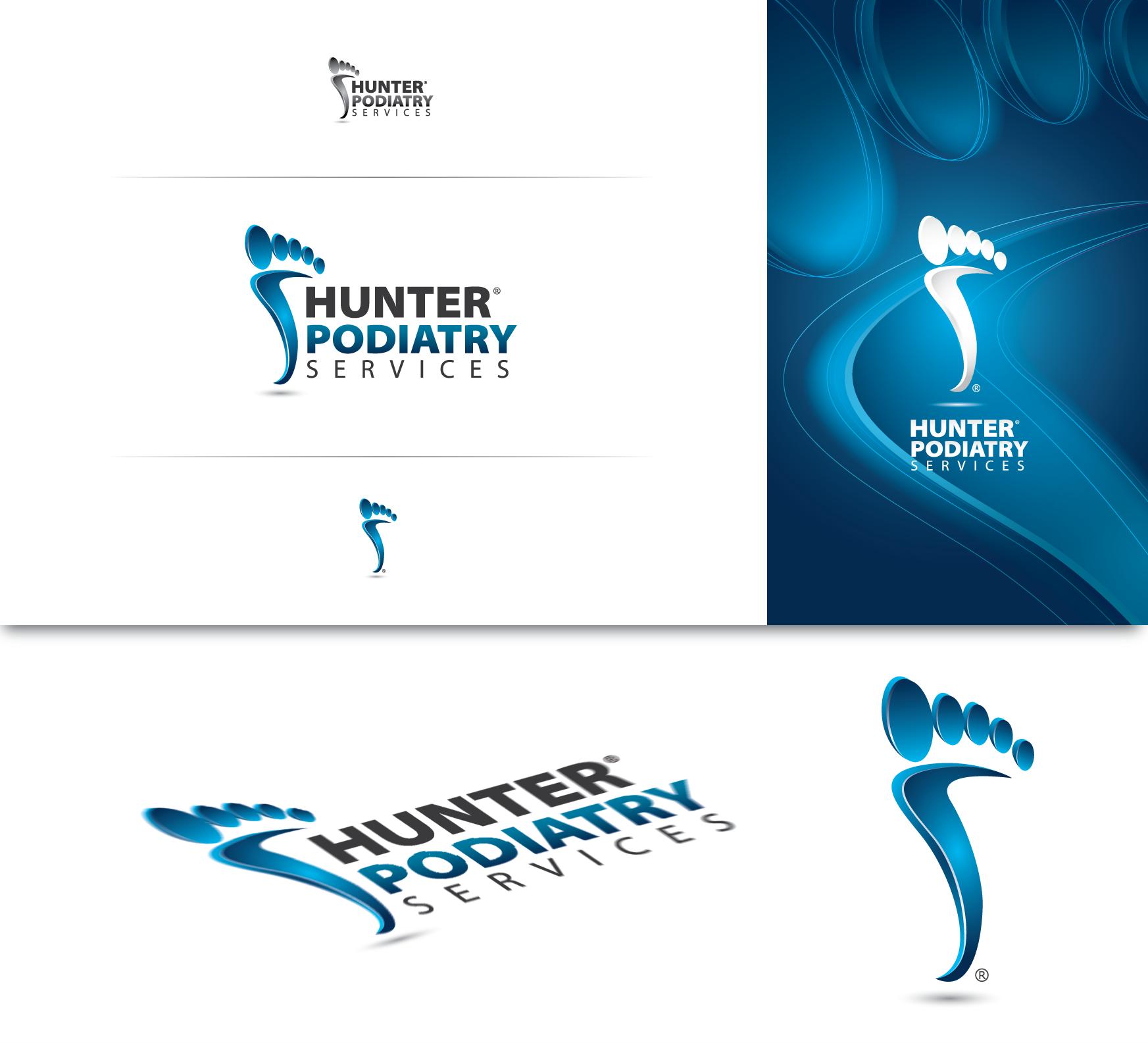 Podiatry clinic logo presentation Clinic logo