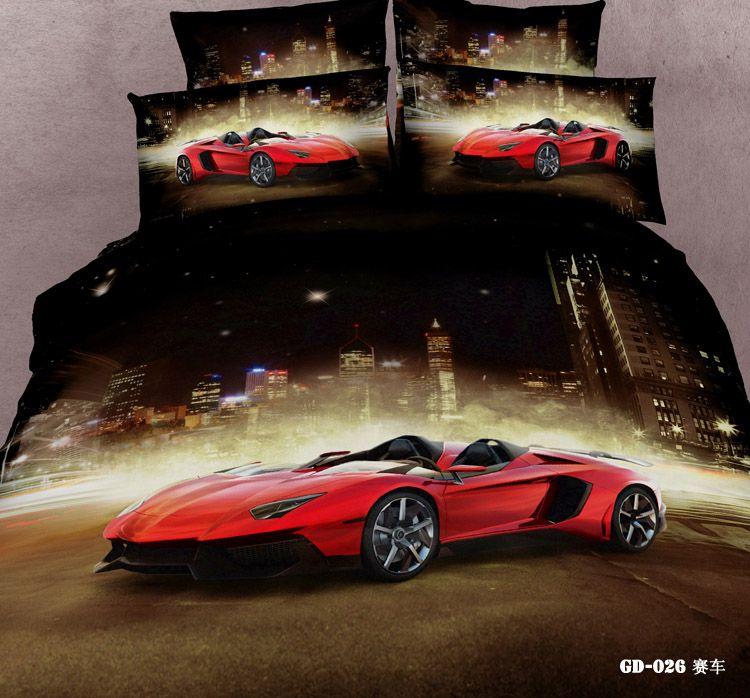 3D Race cars bedding sets california king queen size duvet cover ... : car quilt cover - Adamdwight.com