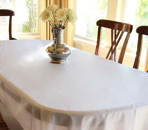 60 X 120 Organza Overlay Table Cloth Rectangular Oval Tablecloth