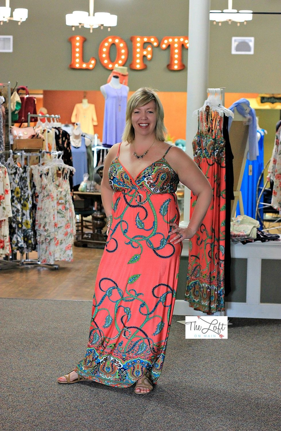 Create your own summer romance in this beautiful plus maxi...  Shop this look at The Loft in store or online...