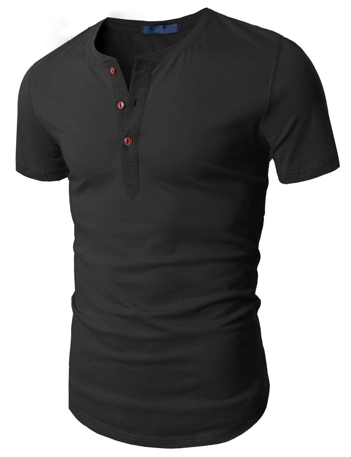 Doublju Mens Fashion Henley Short Sleeve Slim Fit Shirts at Amazon Men's Clothing store: