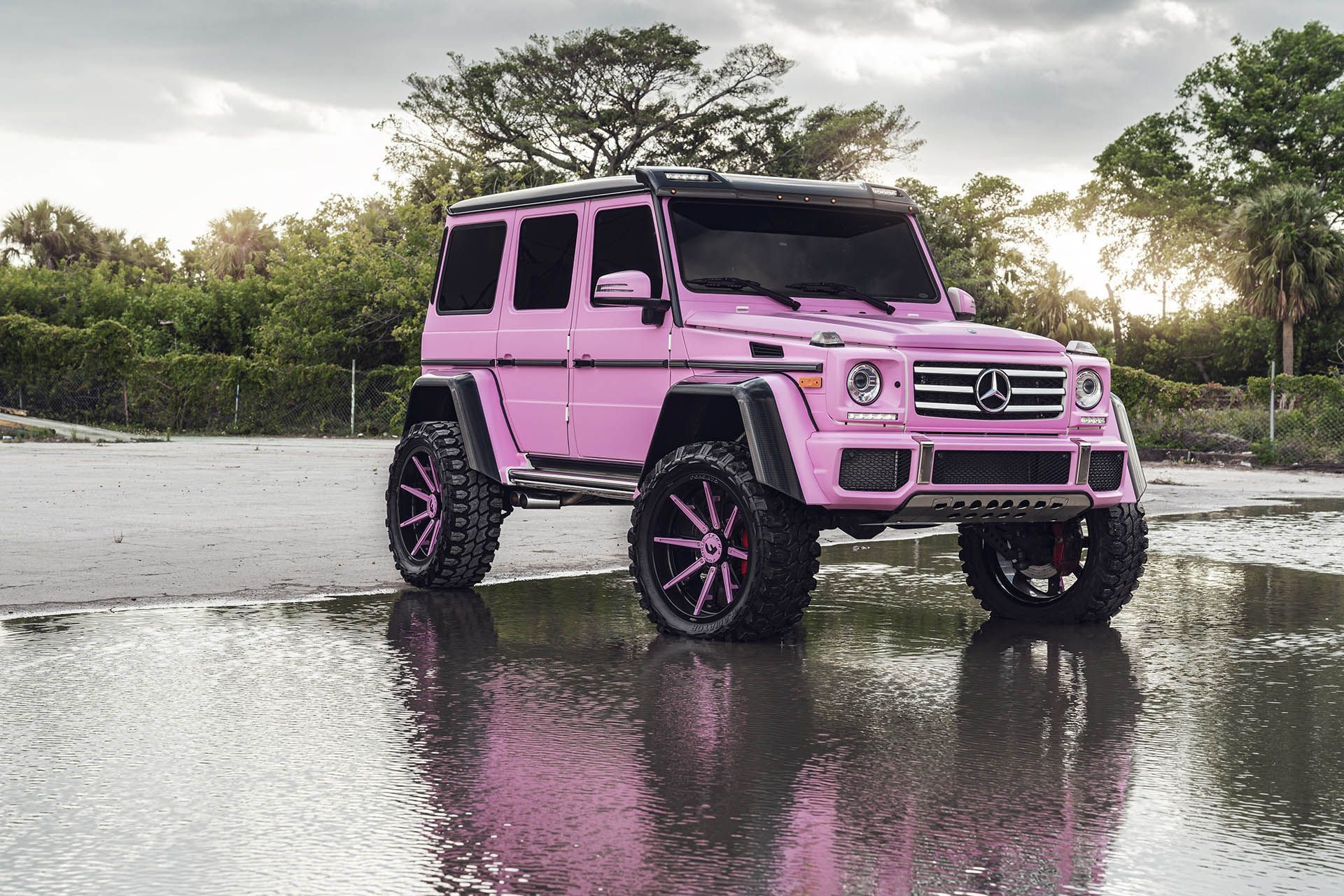 Pink Mercedes G Class 4 4 Squared Is All About Girl Power Mercedes G Wagon G Wagon Mercedes G