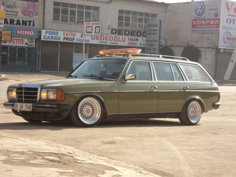 I'm totally crushing on old Mercedes diesel wagons right now.
