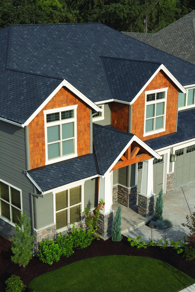 Best Dark Blue Woodmore Roofing Shingles Huis 400 x 300