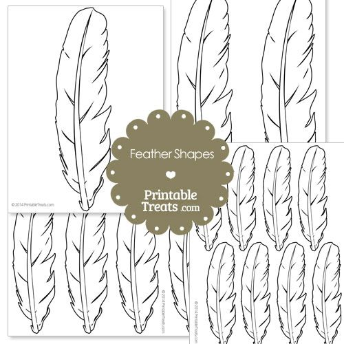 Printable Feather Shape Templates   Fonts - Templates - Printables ...