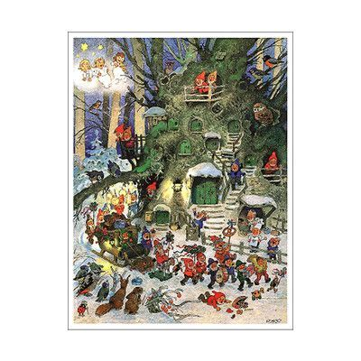 Alexander Taron Korsch Advent Card Set Of 2 Christmas Art Vintage Christmas German Advent Calendar