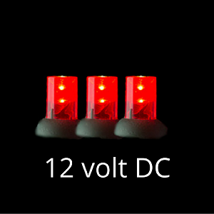12 Volt Led Light Set Red On Green Wire Led Christmas Lights Red Christmas Lights Christmas Lights