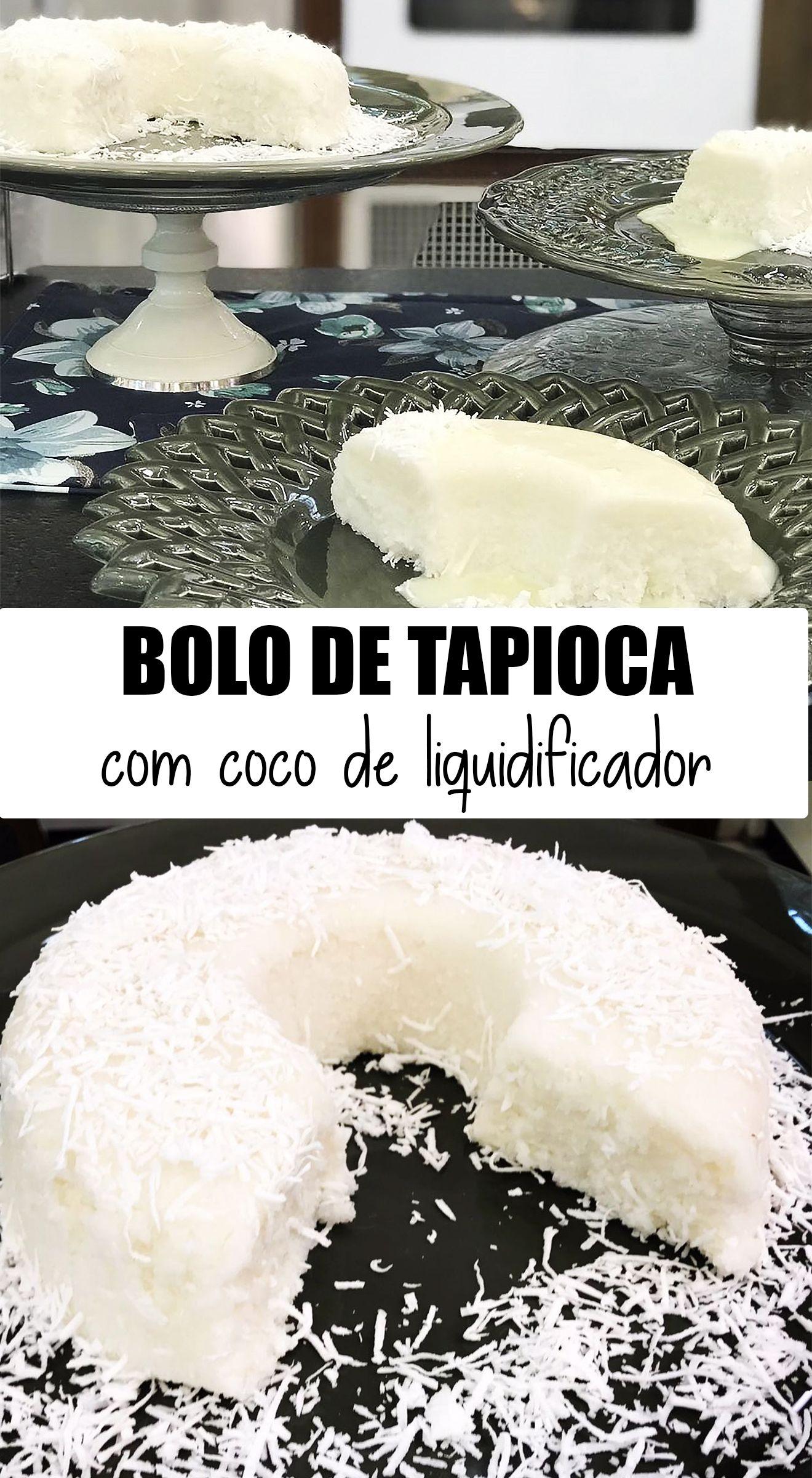 Bolo De Tapioca Com Coco De Liquidificador Da Dona Sonia Com