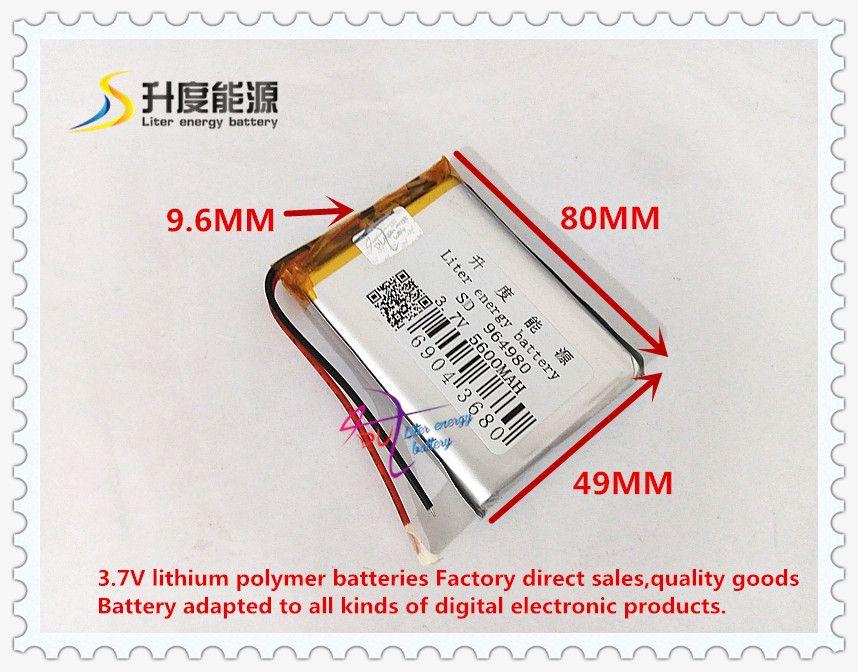 3 7v 5600mah 964980 Polymer Lithium Ion Li Ion Battery Atl