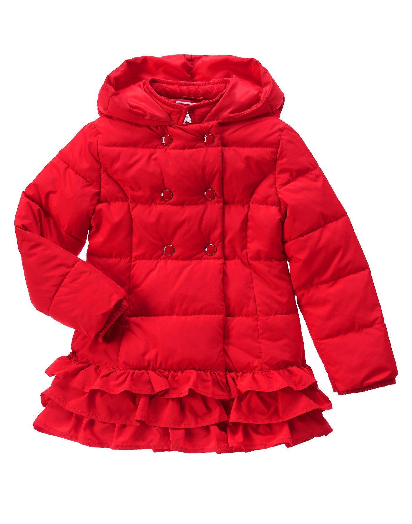5394b4e1fed43 Olivia Ruffle Puffer Jacket at Gymboree