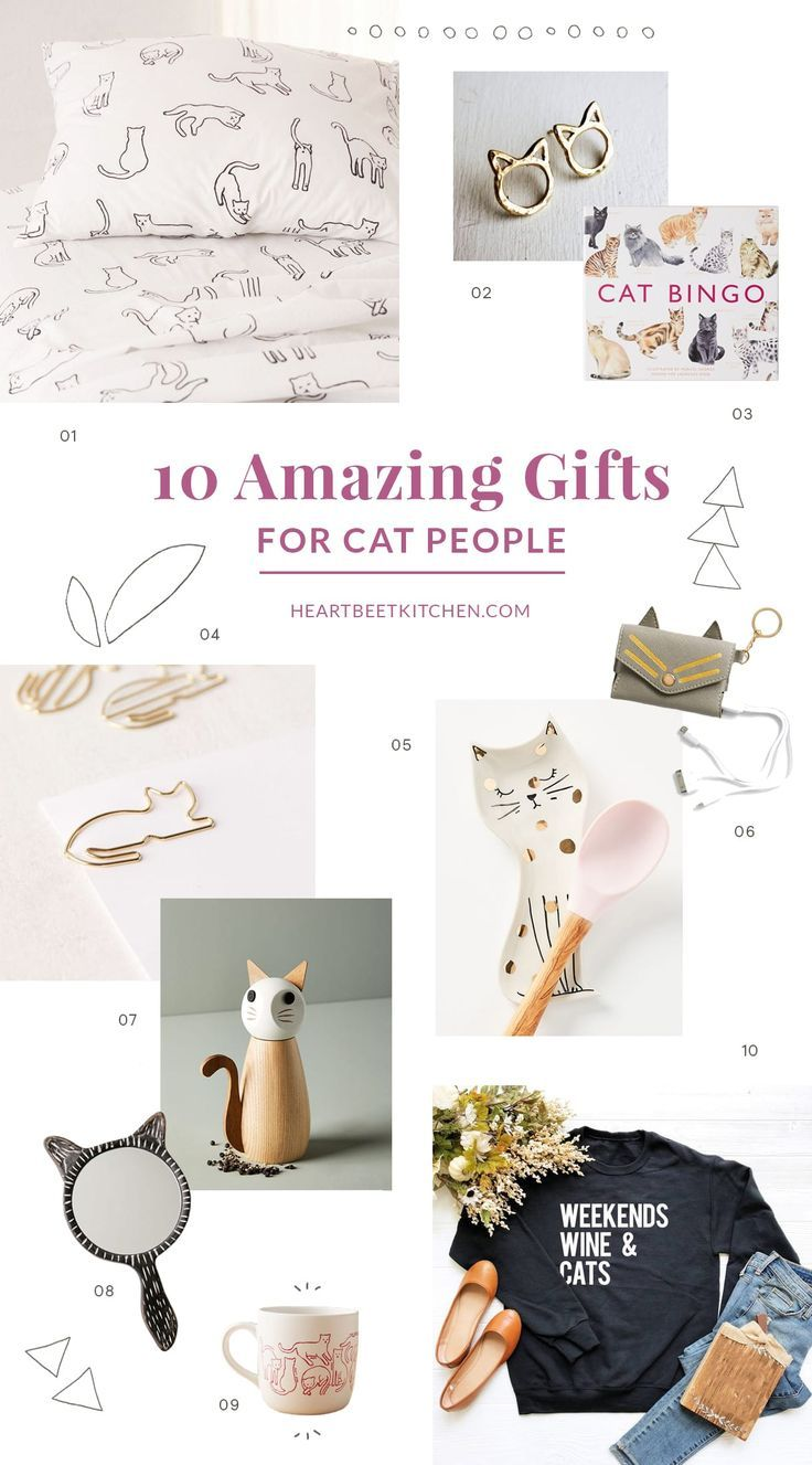Top 20 Gifts for Cat Lovers, and Cats! • Heartbeet Kitchen