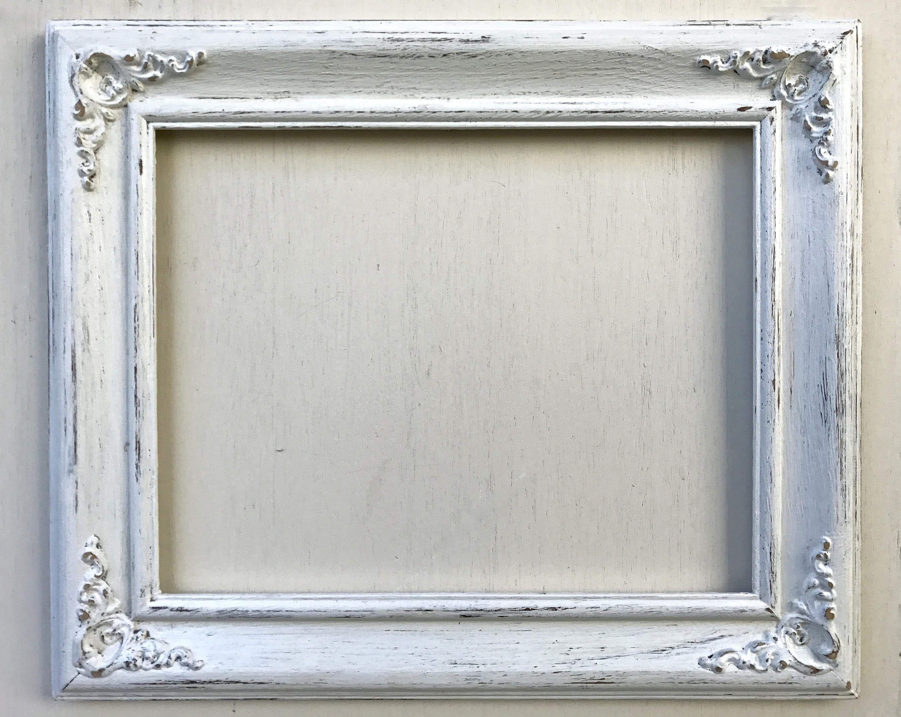 Open Photo Frame Ornate White/White Shabby Chic/Vintage Wedding ...