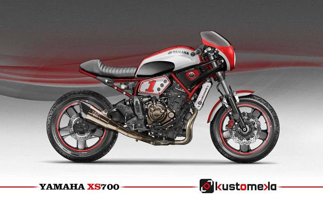 Yamaha XSR700 Cafe Racer Design By Kustomeka Motorcycles Caferacer Motos