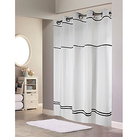 Hookless Escape Fabric Shower Curtain And Liner Set Hookless