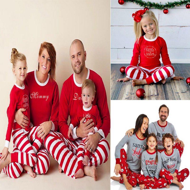 fe305611cf Family Matching Christmas Pajamas Set Women Baby Kids Santa Sleepwear  Christmas  fashion  clothing