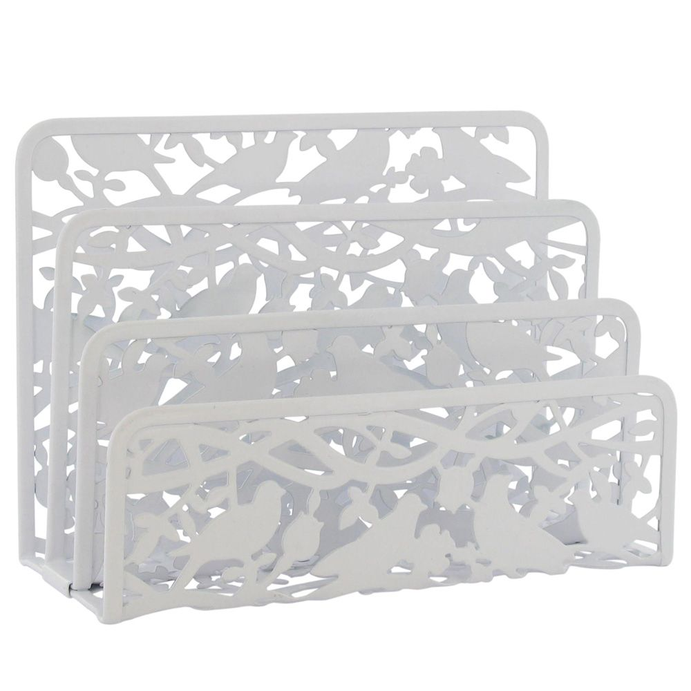 Birds White Metal Letter Tray From Paperchase