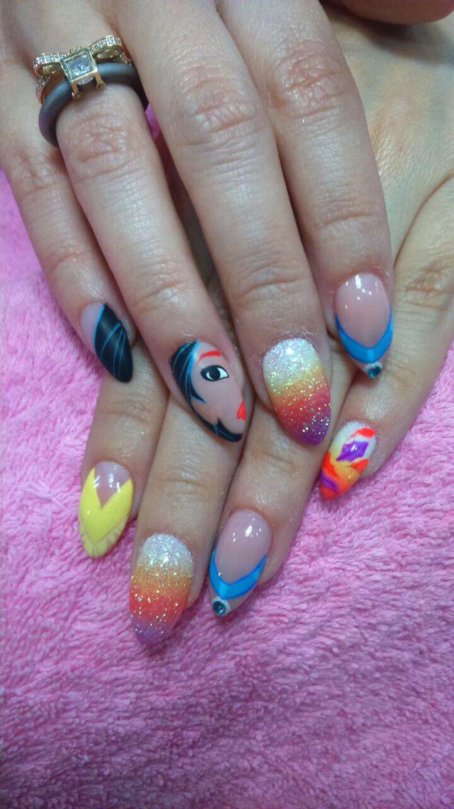 Pocahontas nails nails nails nails pinterest disney nails pocahontas nails prinsesfo Images