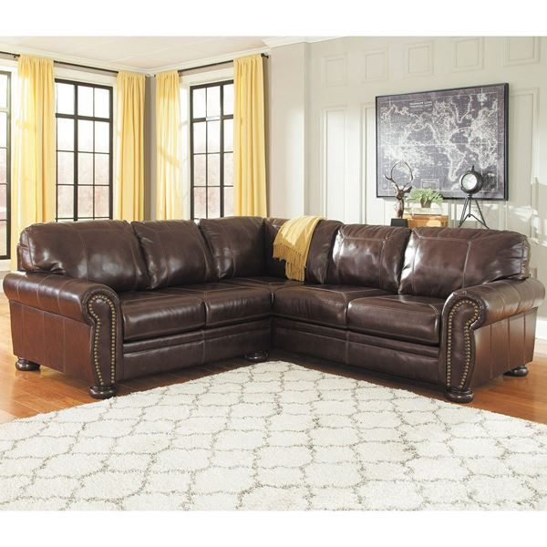 Ashley Sofas Prices: The 2PC RAF Sofa Leather Sectional By Ashley Furniture